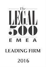 Legal 500 EMEA 2016: recommended firm for IT